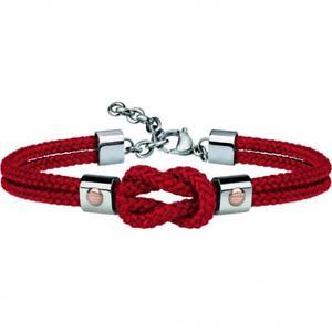 【送料無料】イタリアン ブレスレット ブレスレットレッドゴールドスチールbracciale uomo breil 9k tj2596 cordura rosso oro 9kt ros acciaio