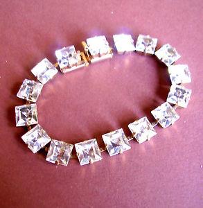 【送料無料】イタリアン ブレスレット ブレスレット963  bracelet strass carres