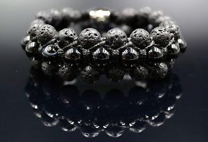【送料無料】イタリアン ブレスレット メンズウォッシュトーンビーズマクラメブレスレットmens lava tone agate beaded gemstone 3 row shamballa macrame gemstone bracelet