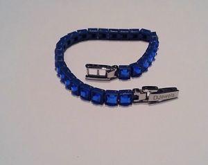 【送料無料】イタリアン ブレスレット テニスブレスレットポリカーボネートdjewels bracciale tennis policarbonato e cristalli blu