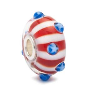 【送料無料】イタリアン ブレスレット オリジナルビーズワールドツアーストライプtrollbeads original beads stati uniti world tour stelle e strisce tglbe10105