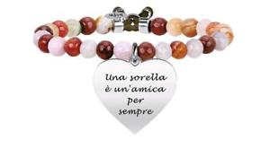 【送料無料】イタリアン ブレスレット ブレスレットkidult bracciali agata marrone amily cuore sorella 731331