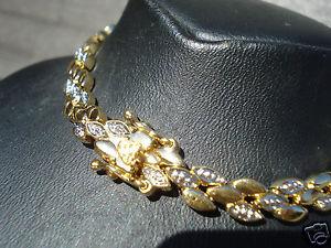 【送料無料】イタリアン ブレスレット ボーブレスレットビンテージプラークbeau bracelet bicolore vintage en plaque or poinconne