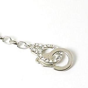【送料無料】イタリアン ブレスレット カラーラインストーンシルバーリンクブレスレットcolor argento strass set manette forzatina braccialetto a maglie