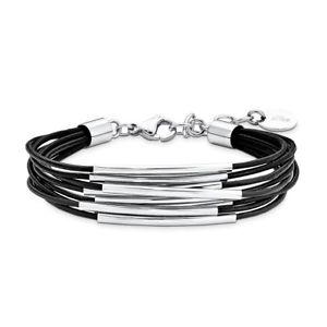 【送料無料】イタリアン ブレスレット ステンレスオリバージュエルカフs oliver jewel bracciale da donna armkette in acciaio inox pelle so12511 9078356