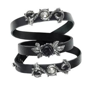 【送料無料】イタリアン ブレスレット ゴシックブレスレットブランドバラalchemy gothic rose della perfezione in pelle bracciale nuovo di zecca