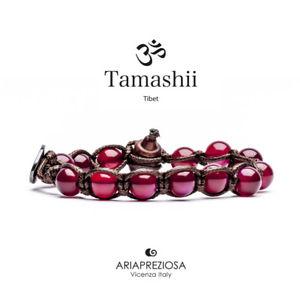 【送料無料】イタリアン ブレスレット カフチベットtamashii bracciale tibet etno monaci buddhisti agata rossa bhs90034
