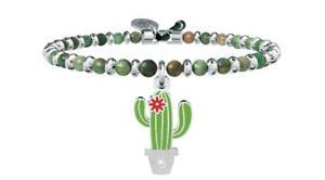 【送料無料】イタリアン ブレスレット ブレスレットスチールシンボルサボテンkidult bracciali acciaio agata symbols cactus oltre le apparenze 731447