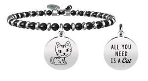 【送料無料】イタリアン ブレスレット ブレスレットスチールアニマルプラネットkidult bracciali acciaio agata animal planet gatto compagnia 731451