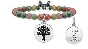 【送料無料】イタリアン ブレスレット ブレスレットスチールライフkidult bracciali acciaio nature albero della vita 731121