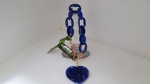 【送料無料】イタリアン ブレスレット カフブレスレットbracciale kulto jewels blu lucido con cuore e chiusura ros bracelet