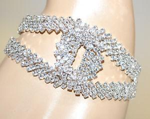 【送料無料】イタリアン ブレスレット シルバーブレスレットラインストーンクリスタルブレスレットbracciale argento strass donna cristalli sposa matrimonio cerimonia bracelet g35