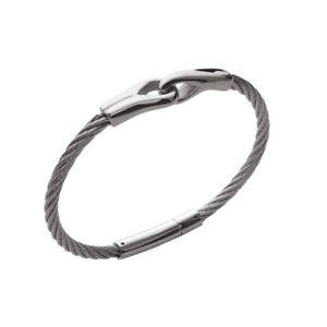 【送料無料】イタリアン ブレスレット ブレスレットkbc bracelet mixte jonc cble acier inoxydable cordage entrelac