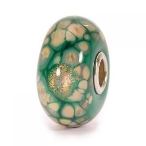 【送料無料】イタリアン ブレスレット ガラスモザイクビードtrollbeads bead in vetro mosaico fiori verde tglbe20056