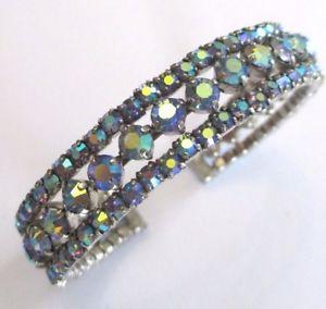 【送料無料】イタリアン ブレスレット ブレスレットビンテージアルジェントmagnifique bracelet ancien bijou vintage couleur argent cristaux boralis 774