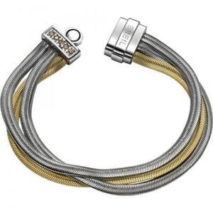 【送料無料】イタリアン ブレスレット カフゴールドスワロフスキーbracciale donna breil breilogy tj1512 acciaio gold multifilo swarovski small