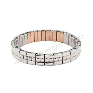 【送料無料】イタリアン ブレスレット ブレスレットフレキシステンレスブレスレットenergetix bracciale magnetico fleximagnetici bracciale in acciaio inoxrame lucidata 3621
