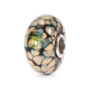 【送料無料】イタリアン ブレスレット ブラックガラスモザイクビードtrollbeads bead in vetro mosaico di fiori nero tglbe20055