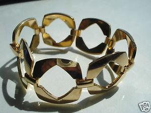 【送料無料】イタリアン ブレスレット ボーブレスレットビンテージプラークbeau et large bracelet vintageplaque or poinconne