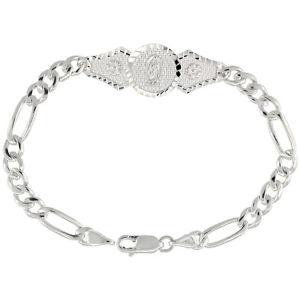 【送料無料】イタリアン ブレスレット 178cm argento sterling guadalupe figaro braccialetto a maglie