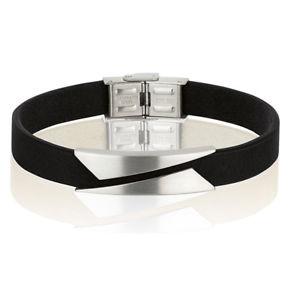 【送料無料】イタリアン ブレスレット ファッションブレスレットスチールmoda bracciale breil rebel uomo acciaio, pelle nero tj2132