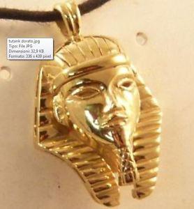 【送料無料】イタリアン ブレスレット シルバースターリングシルバーペンダントciondolo tutankhamon in argento 925 dorato gold plated sterling silver pendant