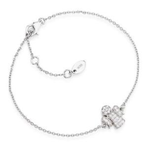 【送料無料】イタリアン ブレスレット シルバーカフアーメンアンジェロジルコンブラbracciale donna catenina amen in argento 925 con angelo zirconato bra