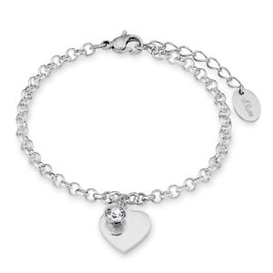 【送料無料】イタリアン ブレスレット オリバーステンレスジュエルカフs oliver jewel bracciale da donna cuore in acciaio inox so13461 9023998
