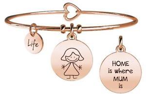 【送料無料】イタリアン ブレスレット スチールブレスレットゴールドピンクkidult bracciali acciaio gold pink family mum 731017