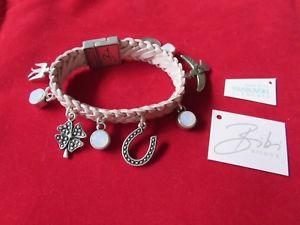 【送料無料】イタリアン ブレスレット ビビラベルピンクレザーブレスレットbibi bijoux rosa intrecciato in pelle bracciale con charmnuovissimo con etichetta