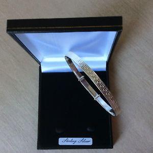【送料無料】イタリアン ブレスレット ブレスレットギリシャ5mm solido argento finissimo greco chiave in espansione braccialetto donna extra