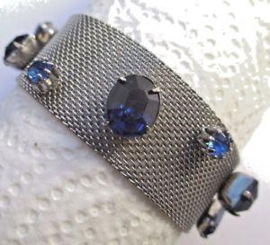 【送料無料】イタリアン ブレスレット ブレスレットビンテージアルジェントrare lgant ancien bracelet bijou vintage couleur argent cristaux saphir 2518