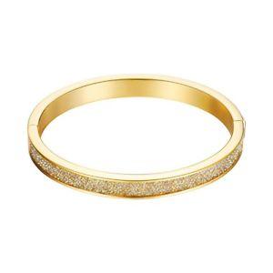 【送料無料】イタリアン ブレスレット ステンレススチールゴールドブレスレットエスプリカフesprit bracciale da donna bracciale in acciaio inox oro dazzel esba 11115b6001
