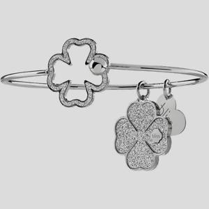 【送料無料】イタリアン ブレスレット ブリスブレスレットブロンズbliss, bracciale rigido glittermania in bronzo ,quadrifoglio 20081450 nuovo