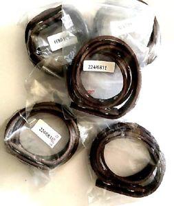 【送料無料】イタリアン ブレスレット カフブレスレットラップシルバースタッドブラウンレザーclearance 10 x wrap around cuff bracelet brown leather with silver studs