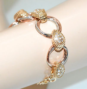 【送料無料】イタリアン ブレスレット カフシルバーゴールドピンクゴールドクリスタルラインストーンリングbracciale donna argento oro rosa dorato anelli strass cristalli cerimonia g20