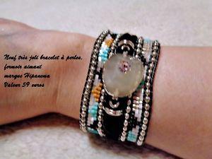 【送料無料】イタリアン ブレスレット ヌフブレスレットメーカユーロneuf et authentique beau bracelet perles marque hipanema valeur 59 euros