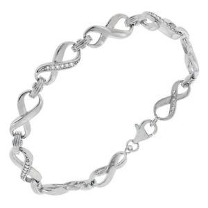 【送料無料】イタリアン ブレスレット スターリングシルバーキュービックジルコンカフdonna argento sterling 925 zircone cubico infinity 178cm bracciale