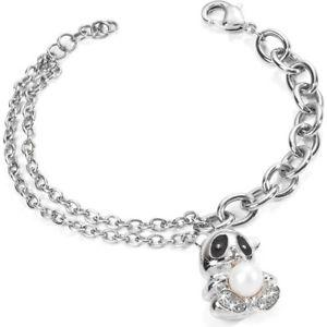 【送料無料】イタリアン ブレスレット カフスチールパンダmorellato bracciale donna skp16 panda acciaio perle coltivate animalia cristalli