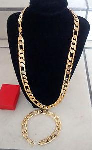 【送料無料】イタリアン ブレスレット フィガロゴールドフィガロネックレスブレスレットセット18kgp figaro sg1207 uomo lusso oro figaro collana 24 amp; 8 braccialetto set regalo