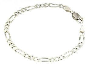 【送料無料】イタリアン ブレスレット カフシルバーブレスレットフィガロbracciale 925 argento braccialetto 4,5mm 1525cm nuovo figaro donna uomo regalo
