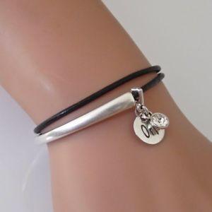 【送料無料】イタリアン ブレスレット シルバーレザーラップカフブレスレットnuovo orli nero e argento in pelle wrap bracciale braccialetto con cristallo