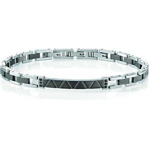 【送料無料】イタリアン ブレスレット ブレスレットスチールブレスレットプレートbracciale uomo sector basic szs36 bracelet acciaio bicolore brunito piastra