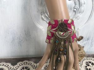 【送料無料】イタリアン ブレスレット カフカフファブリックボヘミアンbracciale tessuto bracciale boho bohemian
