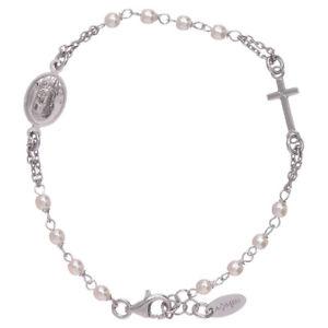 【送料無料】イタリアン ブレスレット カフアーメンジュビリースワロフスキーシルバーbracciale amen rosario giubileo perle swarovski e argento 925