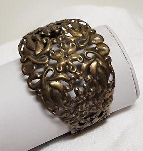 【送料無料】イタリアン ブレスレット ビンテージブレスレットマンシェットancien bijou vintage bracelet manchette cuivre vieilli ouvrag 150o