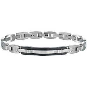 【送料無料】イタリアン ブレスレット ブレスレットエネルギーセクタースチールブレスレットbracciale uomo sector energy szr12 bracelet acciaio bicolore nuovo nero