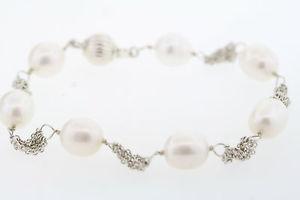 【送料無料】イタリアン ブレスレット スターリングブレスレットnuova inserzioneargento sterling 85 to 9mm forma oblunga originale coltivate perle bracciale w