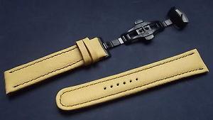 【送料無料】イタリアン ブレスレット ブレスレットノワールbracelet montre disponible de 18mm 24mm avec boucle deployante noir