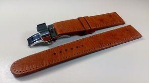 【送料無料】イタリアン ブレスレット ブレスレットディスbracelet montre en autruche vritable avec boucle deployante dispoen 18 et 20mm